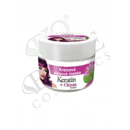 Bione Krémová vlasová maska KERATIN + CHININ 260 ml