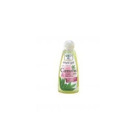 Mycí gel pro intimní hygienu CANNABIS s kyselinou mléčnou a Tea Tree 260 ml