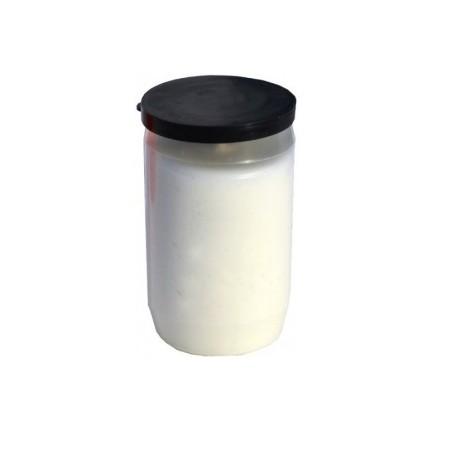 Olejová svíčka malá - bílá 110g