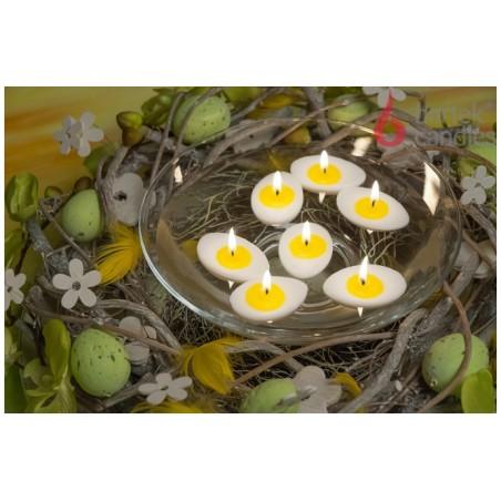 Svíčka velikonoční půlené vejce oválné  - plovoucí